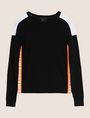 ARMANI EXCHANGE NEON LOGO CREWNECK SWEATER Pullover Woman r