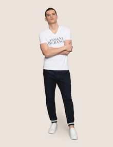 ARMANI EXCHANGE WAVE LOGO V-NECK Logo T-shirt Man d