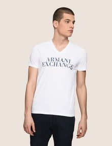 ARMANI EXCHANGE WAVE LOGO V-NECK Logo T-shirt Man f