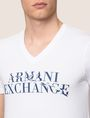 ARMANI EXCHANGE WAVE LOGO V-NECK Logo T-shirt Man b