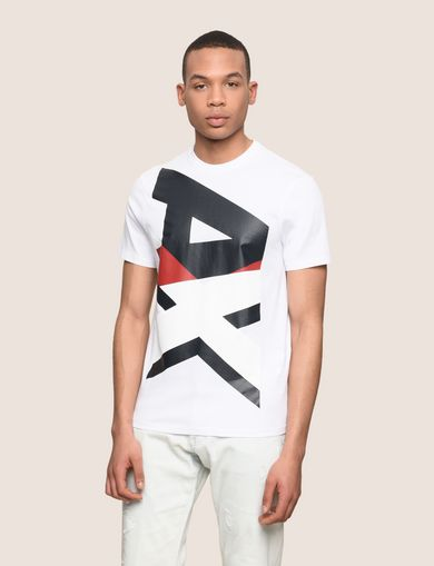 VERTICAL BLOCK LOGO TEE