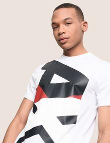ARMANI EXCHANGE VERTICAL BLOCK LOGO TEE Logo T-shirt Man a
