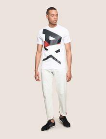ARMANI EXCHANGE VERTICAL BLOCK LOGO TEE Logo T-shirt Man d