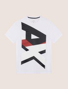 ARMANI EXCHANGE VERTICAL BLOCK LOGO TEE Logo T-shirt Man r