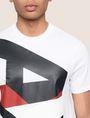 ARMANI EXCHANGE VERTICAL BLOCK LOGO TEE Logo T-shirt Man b