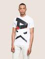 ARMANI EXCHANGE VERTICAL BLOCK LOGO TEE Logo T-shirt Man f