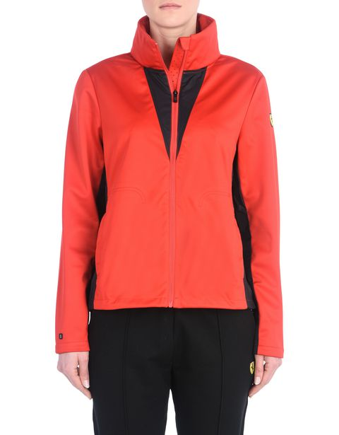 Women's waterproof jacket with concealed hood