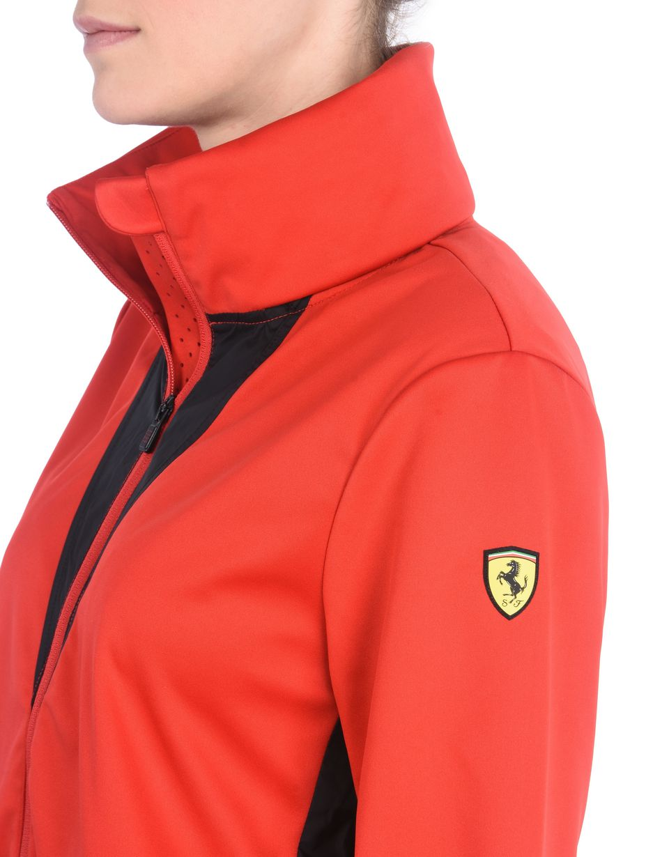 Scuderia Ferrari Online Store - Women's waterproof jacket with concealed hood -