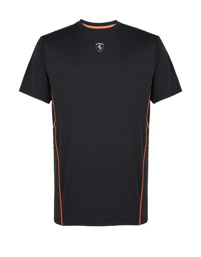 Scuderia Ferrari Online Store - Men's T-shirt in technical fabric - Short Sleeve T-Shirts