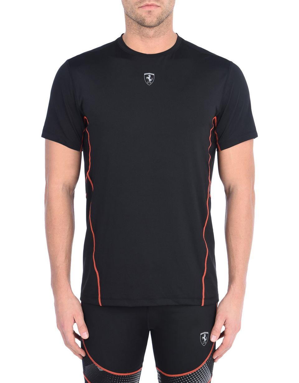 Scuderia Ferrari Online Store - Technical fabric men's T-shirt - Short Sleeve T-Shirts