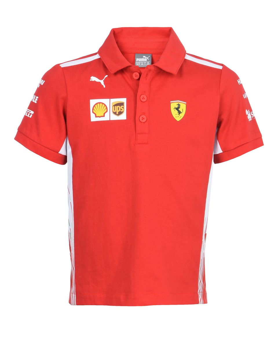 Scuderia Ferrari Online Store - Scuderia Ferrari Replica 2018 polo shirt for teens - Short Sleeve Polos