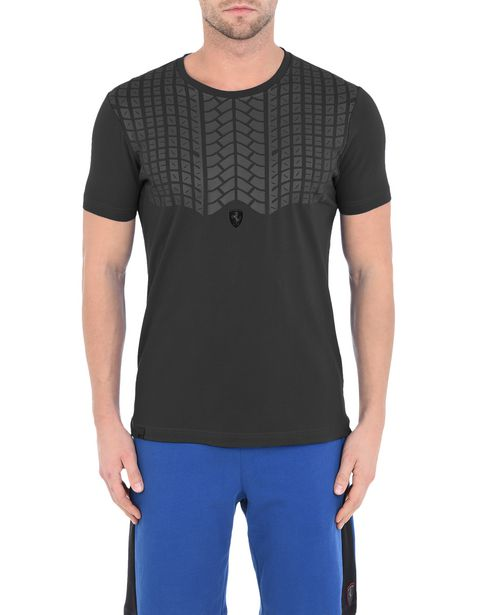 Men's short-sleeve T-shirt with rubberised print