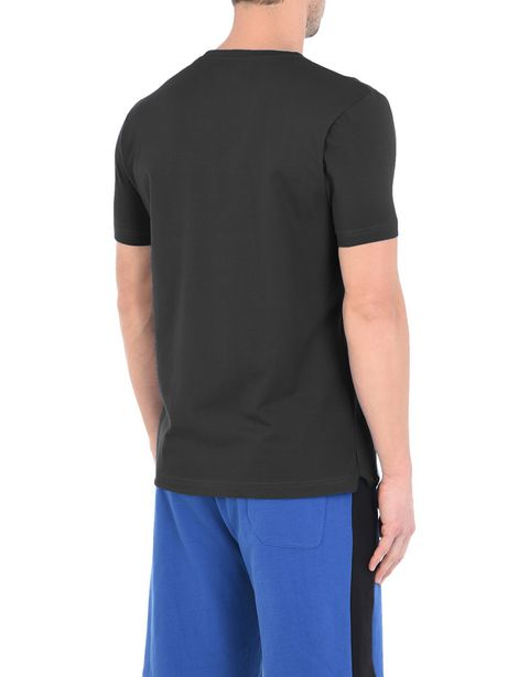 Men's short-sleeve T-shirt with rubberized print