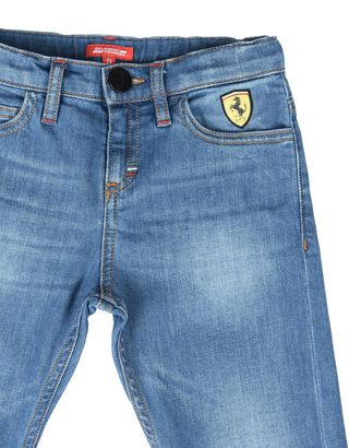 Scuderia Ferrari Online Store - Boys light wash jeans - Jeans