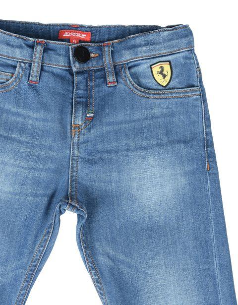 Scuderia Ferrari Online Store - Детские джинсы из светлого денима - Винтажные джинсы