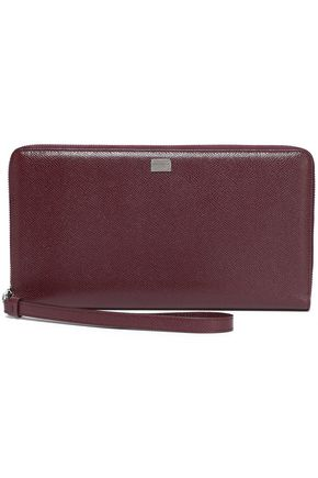 DOLCE & GABBANA Textured-leather continental wallet
