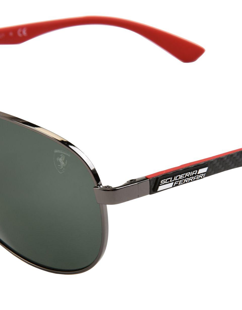 Scuderia Ferrari Online Store - Ray-Ban x Scuderia Ferrari Aviator Carbon Fibre Gunmetal 0RB8313M - Sunglasses