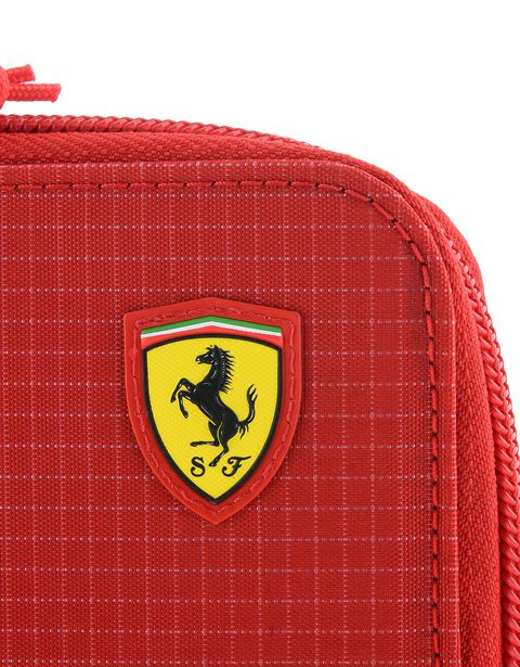 Scuderia Ferrari Online Store - Wallet with metal zipper pull - Horizontal with coin Wallets