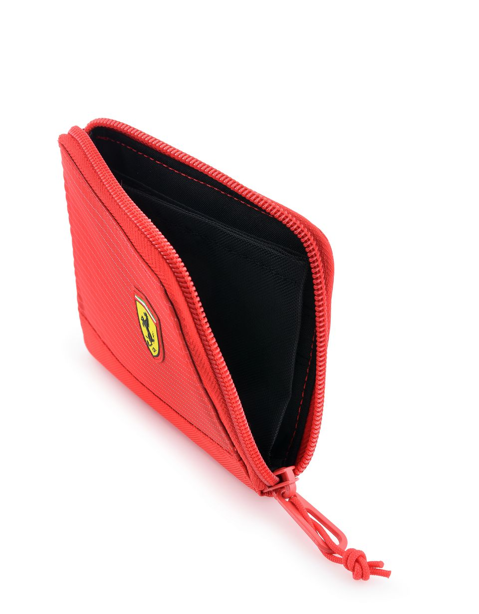 Scuderia Ferrari Online Store - Wallet with metal zip pull - Horizontal with coin Wallets