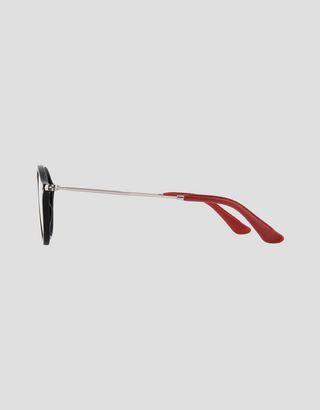 Scuderia Ferrari Online Store - Ray-Ban x Scuderia Ferrari Round Combo Black 0RB2447NM - Sunglasses
