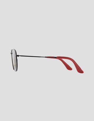 Scuderia Ferrari Online Store - Ray-Ban x Scuderia Ferrari Hexagonal Combo Black 0RB3548NM - Sunglasses