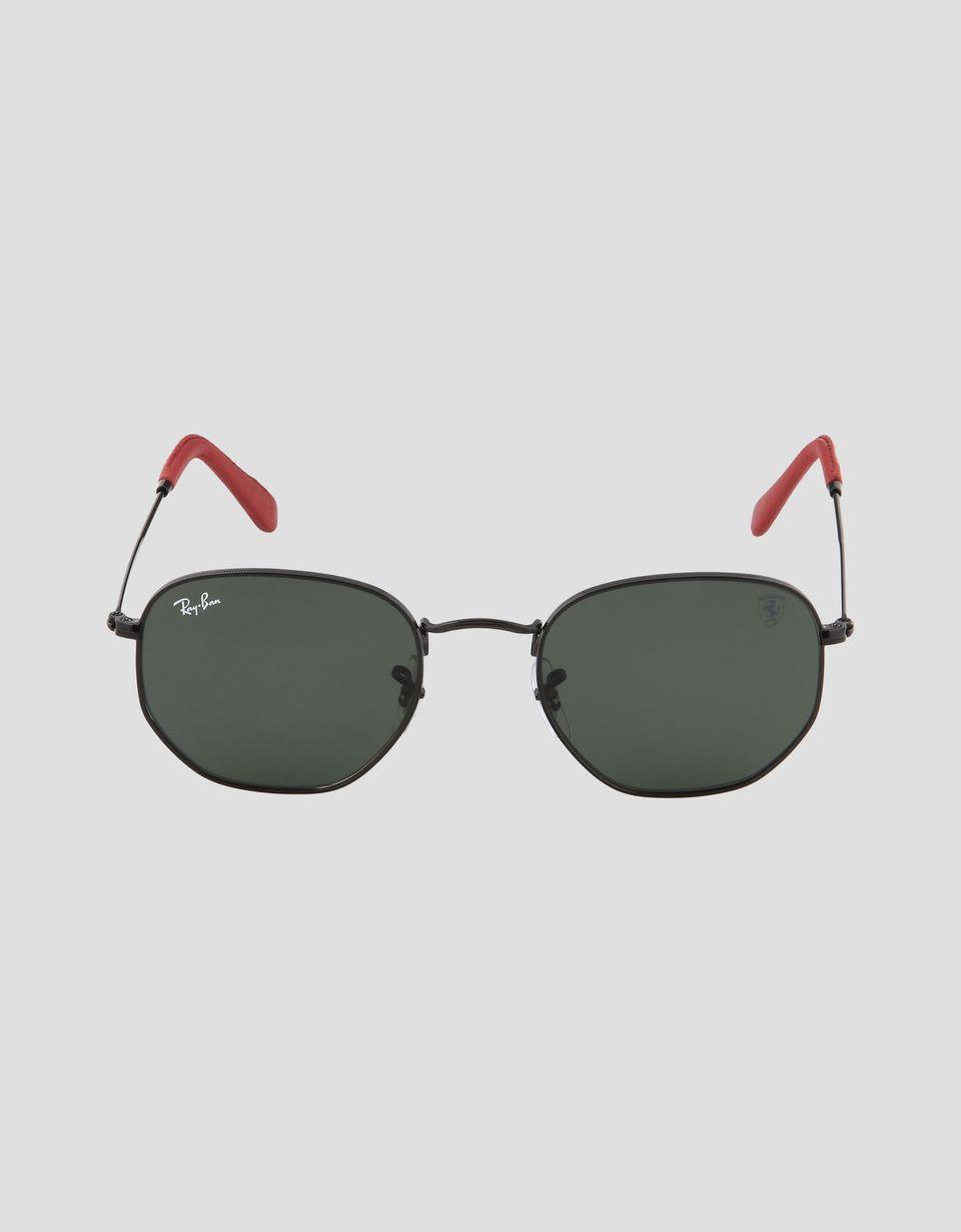 Scuderia Ferrari Online Store - Lunettes de soleil Ray-Ban for Scuderia Ferrari Hexagonal couleur noir 0RB3548NM - Lunettes de soleil