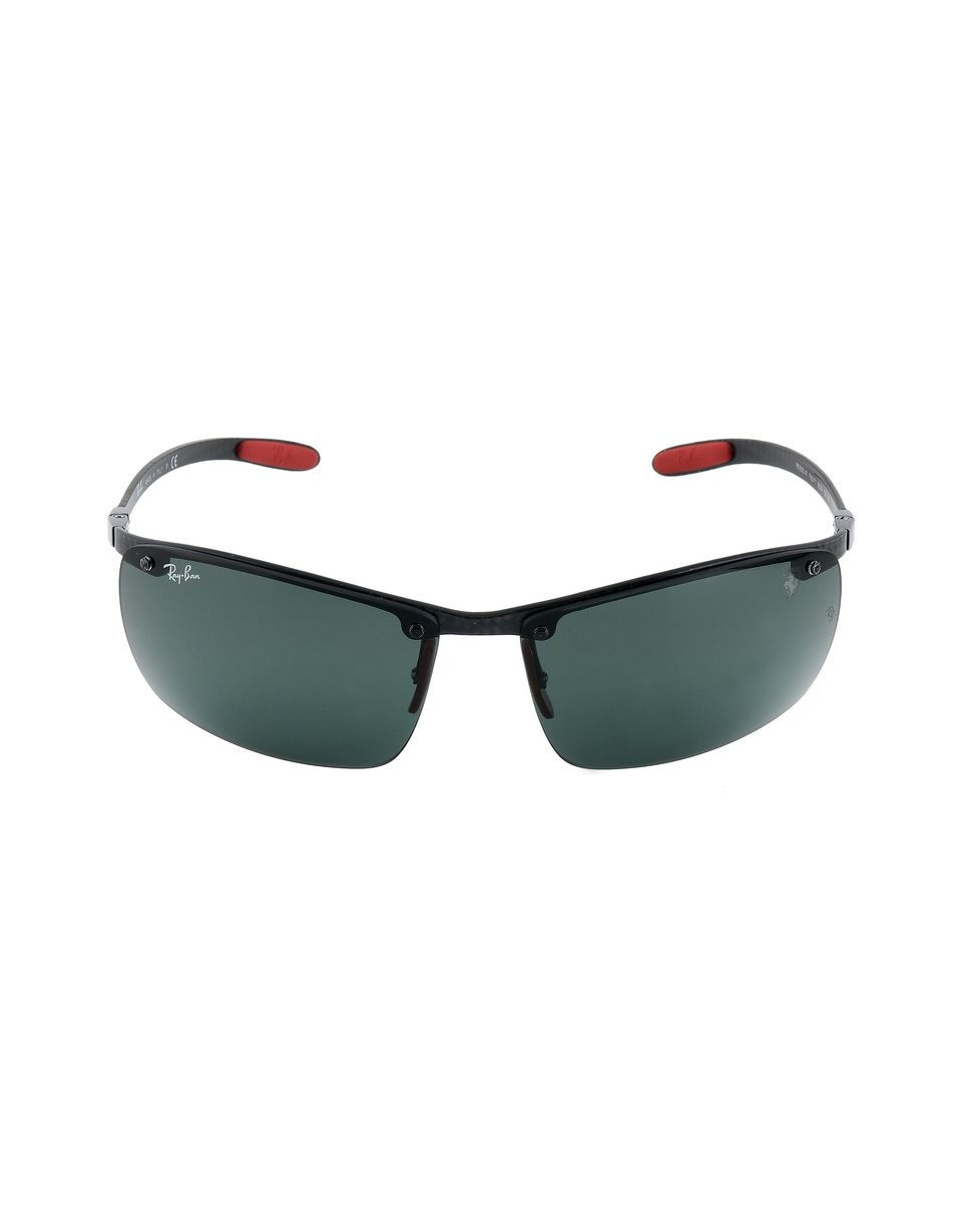Scuderia Ferrari Online Store - Lunettes de soleil Ray-Ban for Scuderia Ferrari Full Bar en fibre de carbone couleur noir 0RB8305M -