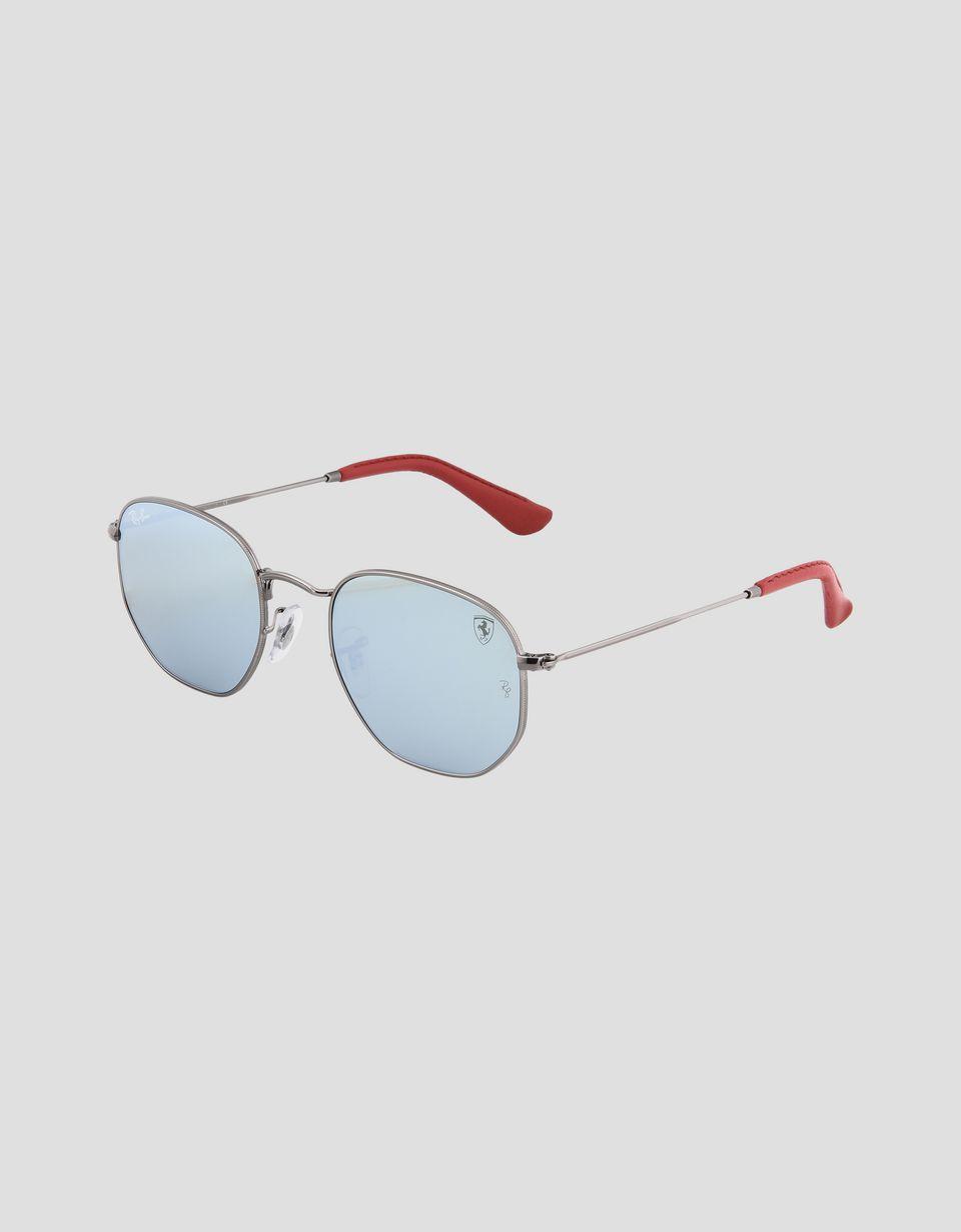 Scuderia Ferrari Online Store - Ray-Ban x Scuderia Ferrari Hexagonal Combo Gunmetal 0RB3548NM - Sunglasses