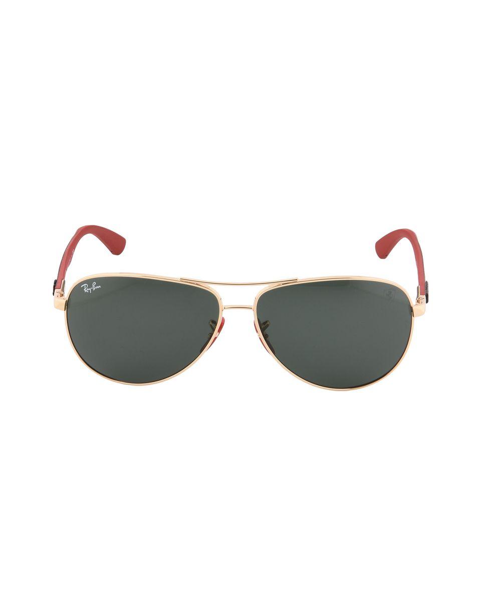 Scuderia Ferrari Online Store - Ray-Ban x Scuderia Ferrari Aviator Carbon Fibre Gold 0RB8313M - Sunglasses