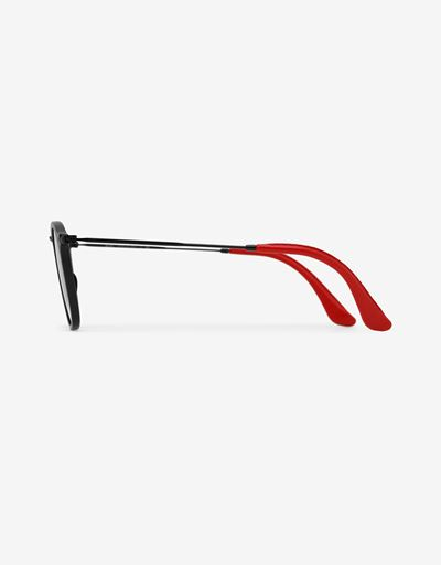 Scuderia Ferrari Online Store - Lunettes de soleil Ray-Ban for Scuderia Ferrari Wayfarer Combo couleur noir mat 0RB2448NM - Lunettes de soleil