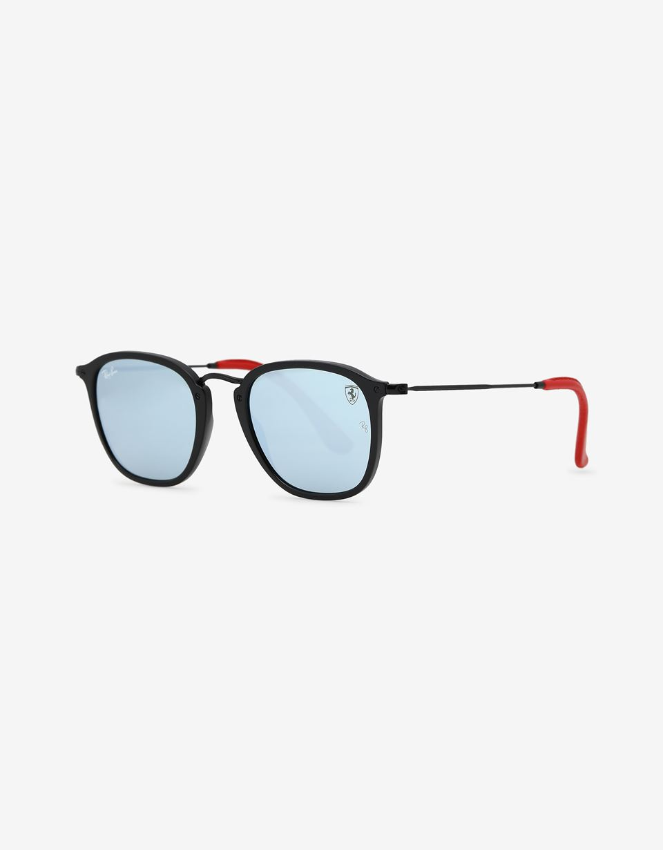 Scuderia Ferrari Online Store - Ray-Ban x Scuderia Ferrari Wayfarer Combo Matte Black 0RB2447NM - Sunglasses