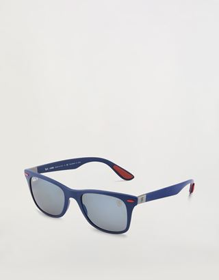 Scuderia Ferrari Online Store - Ray-Ban x Scuderia Ferrari Wayfarer Liteforce Matte Blue 0RB4195M - Sunglasses