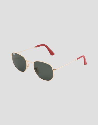 Солнцезащитные очки от Ray-Ban для Scuderia Ferrari: Hexagonal золотистого цвета
