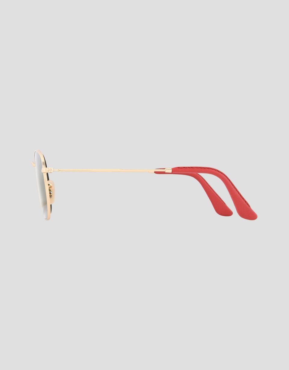 Scuderia Ferrari Online Store - Ray-Ban for Scuderia Ferrari Hexagonal oro 0RB3548NM - Occhiali da Sole