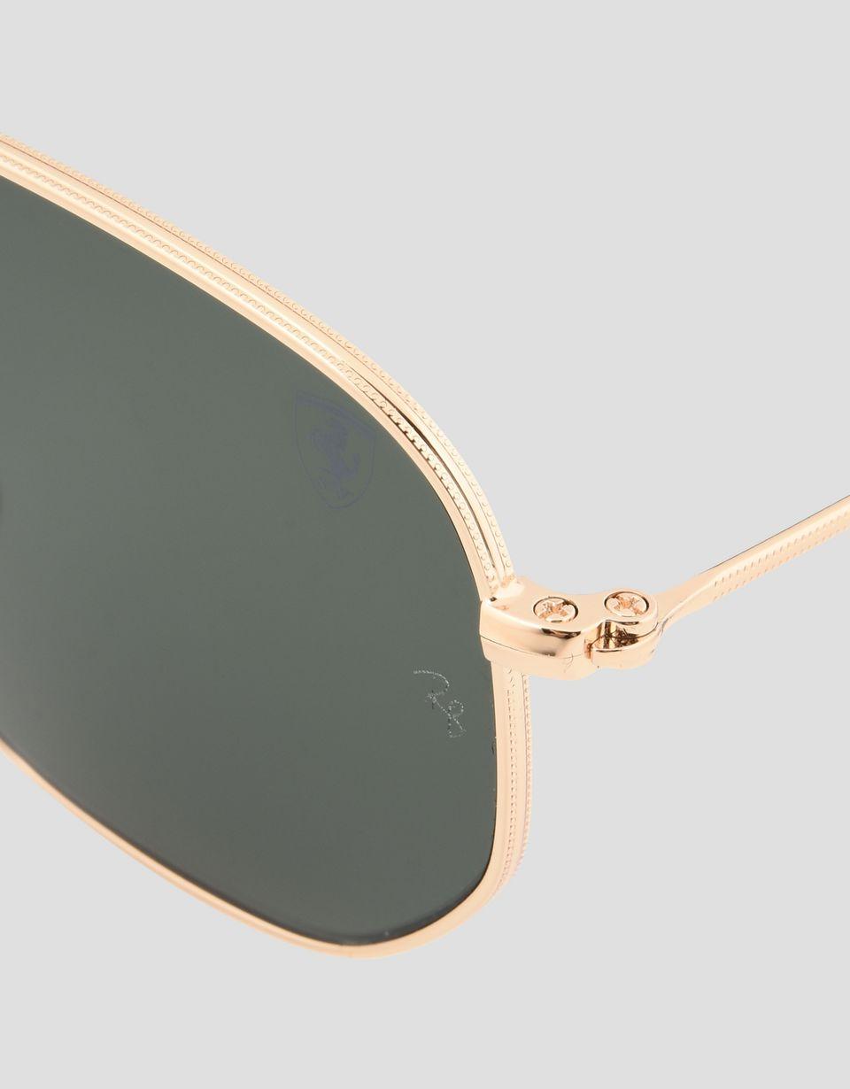 Scuderia Ferrari Online Store - Ray-Ban x Scuderia Ferrari Hexagonal Combo Gold 0RB3548NM - Sunglasses