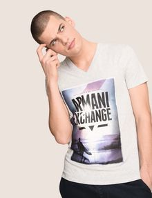 ARMANI EXCHANGE BOXED SURFER LOGO TEE Logo T-shirt Man a