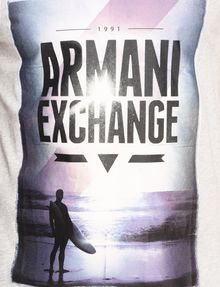 ARMANI EXCHANGE BOXED SURFER LOGO TEE Logo T-shirt Man b
