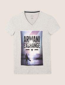 ARMANI EXCHANGE BOXED SURFER LOGO TEE Logo T-shirt Man r