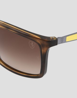 Scuderia Ferrari Online Store - Lunettes de soleil Ray-Ban for Scuderia Ferrari 0RB4228M couleur marron havane - Lunettes de soleil