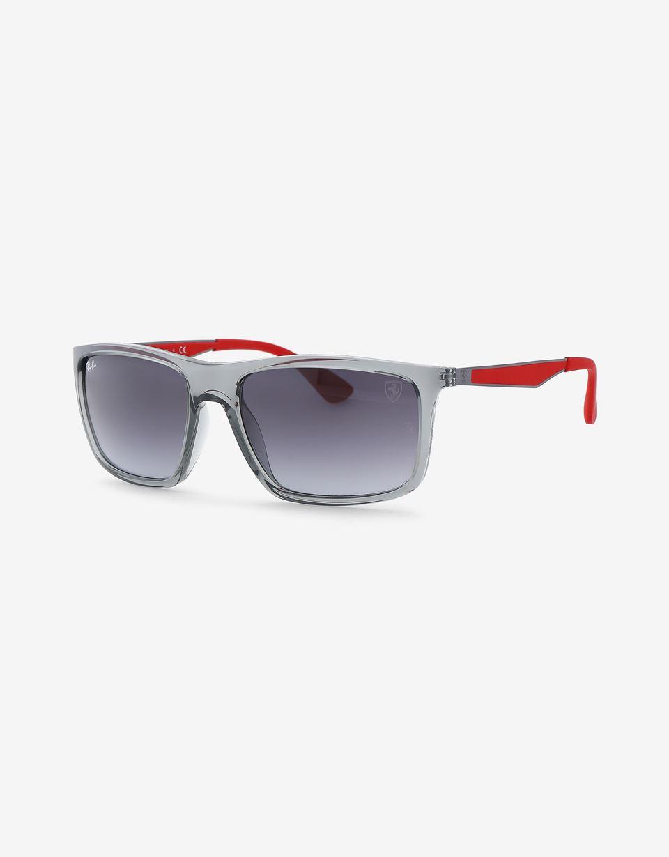 Scuderia Ferrari Online Store - Ray-Ban x Scuderia Ferrari Transparent Gray 0RB4228M - Sunglasses