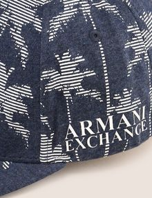 ARMANI EXCHANGE STRIPED PALMS PRINT HAT Hat Man d