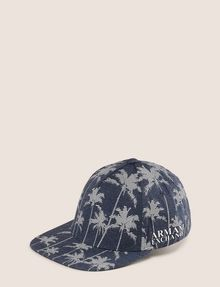 ARMANI EXCHANGE STRIPED PALMS PRINT HAT Hat Man f