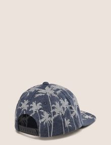 ARMANI EXCHANGE STRIPED PALMS PRINT HAT Hat Man r