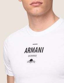 ARMANI EXCHANGE SUNSET AND WAVES LOGO TEE Logo T-shirt Man b