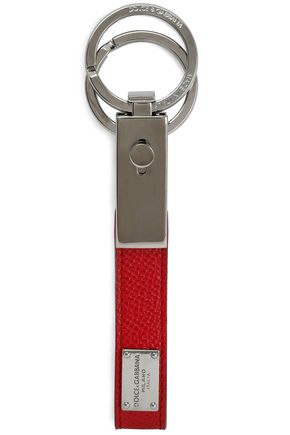 DOLCE & GABBANA Textured-leather keychain