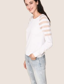 ARMANI EXCHANGE SHEER STRIPE LONG-SLEEVE SWEATER Pullover Woman a