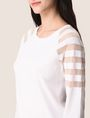 ARMANI EXCHANGE SHEER STRIPE LONG-SLEEVE SWEATER Pullover Woman b