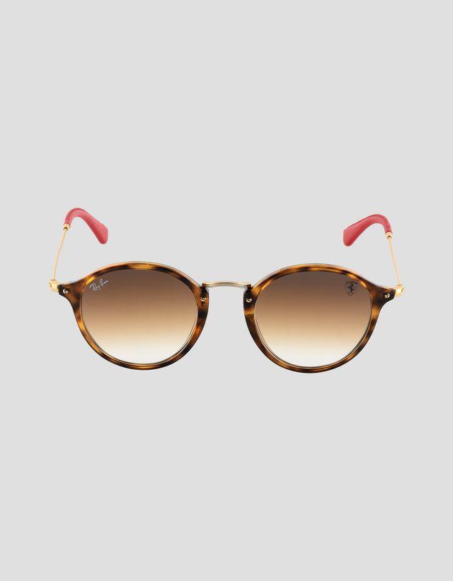 "Scuderia Ferrari Online Store - Солнцезащитные очки от Ray-Ban для Scuderia Ferrari: Round Combo цвета ""гавана"" 0RB2447NM - Солнцезащитные очки"