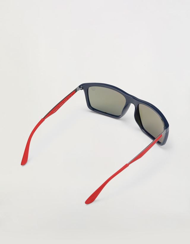 Scuderia Ferrari Online Store - Ray-Ban x Scuderia Ferrari Blue 0RB4228M - Sunglasses