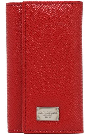 DOLCE & GABBANA Textured-leather key holder